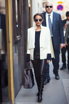 Street Style: Nicole Richie in Black Leather