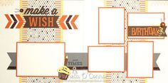 "Cricut 'Artbooking Kit of the Month' ~ 12"" x 12"" Pre-Cut/Pre-Stamped CTMH Babycakes Scrapbook Layouts"