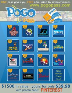 FUN THINGS TO DO IN ARIZONA! Use code: PINTEREST to get 60% off your Pogo Passes at www.pogopass.com