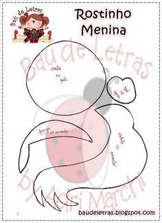 .::BAÚ DE LETRAS::. E.v.a. e Scrapbook: Moldes