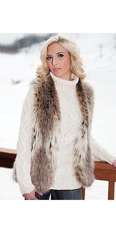 Russian Lynx Faux Fur Fashionista Vest | Fabulous-Furs
