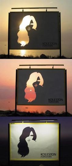 That is brilliant!  Positive and negative space
