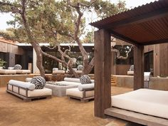 COVERED DAY BEDS! Pebble Beach Residence by Conrad Design Group