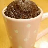 CHOCOLATE CAKE MICROWAVED IN A COFFEE CUP!