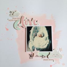 12x12 scrapbooking layout baby crate paper little you pastel                                                                                                                                                      More
