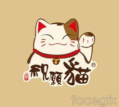 Lucky cat t shirt printing vector – Over millions vectors, stock . Neko Cat, Maneki Neko, Sushi Cat, Cat Icon, Japanese Cat, Keys Art, Cat Logo, Cat Drawing, Animal Tattoos