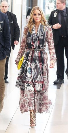 Olivia Palermo belted scarf