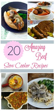 Looking for delicious beef recipes for your slow cooker? Check out these 20 Amazing Beef Slow Cooker Recipes that are perfect for any family!