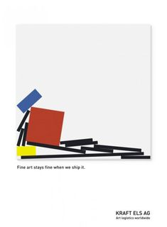 Campaña de la empresa de transporte de arte Kraft Els Ag. --Mondrian--