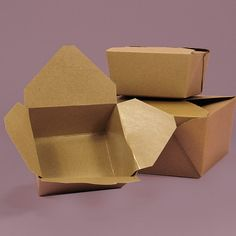 Bio-Plus® Earth Kraft Take-Out Boxes