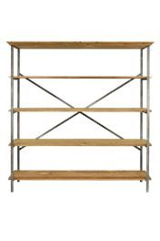 This shelving unit would look great in the lounge or dining area for decorative use or storage of kitchenware.