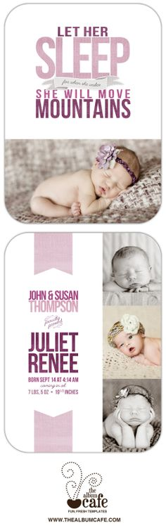 Let Her Sleep Birth Announcement