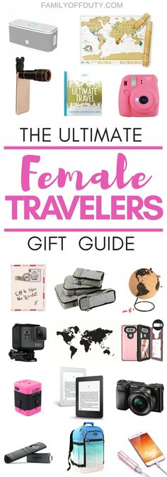 The ultimate guide for unique and useful gifts for travel lovers. Travel Gifts for any occasion inc Travel Gifts for Women, Travel Gifts for Men, Practical Travel Gifts & Travel Gifts for the family and for every budget. These travel gifts are perfect for anyone who wants to pack their next trip with only great gadgets and items. This travel gift guide idea list will help you shop for that special, wanderlusting person in your life. Check out these awesome travel presents now!