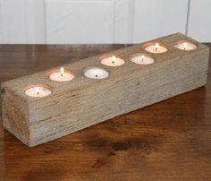 White Oak Candle Holder.