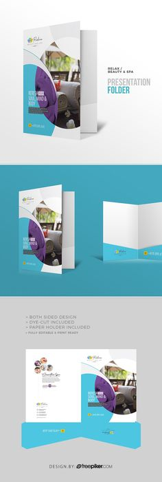 Relax | Beauty & Spa Business Presentation Folder