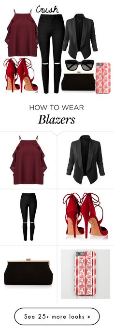 """CRUSH"" by bexijem on Polyvore featuring Aquazzura, Miss Selfridge, LE3NO, Monsoon, Yves Saint Laurent, GetTheLook, chic, summerstyle, retro and summersandals"