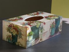 chustecznik Decoupage, Kleenex Box, Covered Boxes, Handicraft, Decorative Boxes, Scrap, Xmas, Gallery, Interior