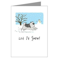 """Let It Snow"" keeshond"
