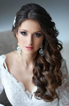 romantic waves wedding hair - Google Search