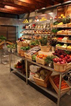 MasterChef pantry styled and merchandised by Jeff Parker Fruit And Veg Shop, Vegan Market, Supermarket Design, Farm Store, Market Displays, Bathroom Design Luxury, Zero Waste Store, Store Design, Grocery Store