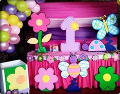 M Butterfly Birthday Party, Garden Birthday, Baby 1st Birthday, 3rd Birthday Parties, Birthday Balloon Decorations, Butterfly Decorations, Birthday Balloons, Party Shop, Princess Party