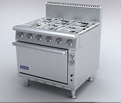 Viking commercial range-- good enough for any serious cook's home kitchen