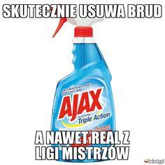 #smiechy #śmieszne #memy #humor #funny #lol #fun #ajax #realmadryt #ligamistrzów #piłkanożna Polish Memes, Stuff And Thangs, Best Memes, Kpop, Humor, Funny, Life, Animals, Rage