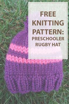 Keep an eye fixed on your toddler throughout recess whereas she wears the small fry football game Hat. this beautiful pink and purple knit hat pattern is that the good mixture of heat and playfulness. 2 thick stripes and an enormous downlike pommy pommy adorn this easy hat. | www.housewiveshobbies.com |