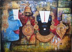 LETEST ART  artist : Arjun das  title : TIRUPATI BALA JEE acrylic on canvas  size : 123 x 94 cm prise: 50,000.00 contact : 9835508353