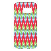 Retro Abstract Zigzag Stripes Pattern Design Samsung Galaxy S7 Case