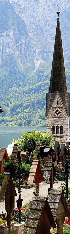 Austria   Hallstatt Cemetery   UNESCO World Heritage Site