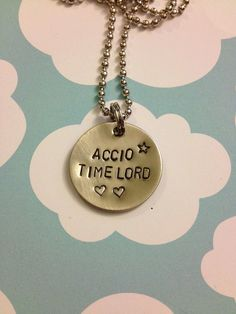 Accio Timelord - Harry Potter & Doctor Who Necklace . $10.00, via Etsy.