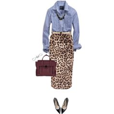 Leopard & Chambray