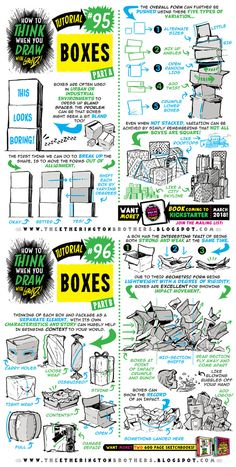 How to draw BOXES tutorial by STUDIOBLINKTWICE.deviantart.com on @DeviantArt