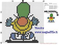 Mr. Nonsense (Mr. Men) cross stitch pattern - free cross stitch patterns