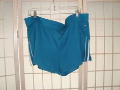 Athletic Works Sz XL 16/18 Women's Galapagos Blue Knit Athletic Workout Shorts #AthleticWorks #Athletic