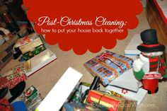 Post-Christmas Cleaning :: Christmas can leave your house with more stuff, more food, and seasonal decor. Having a plan to restore your home to normal will help you feel more in control. via OutsideTheBoxMom.com