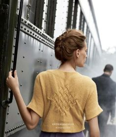 "lylaandblu:    ""Looking Back"" Cardigan, Anthropologie November 2008 Catalogue"