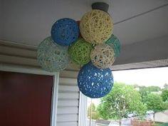 DIY Yarn Chandelier by georgette