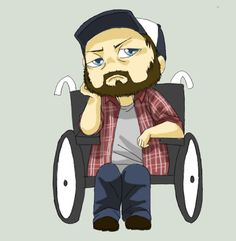 Bobby singer chibi by Supernatural-Fox.deviantart.com on @deviantART