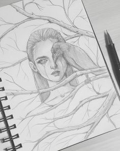 Best Images book drawing sketches Popular What is the genuine distinction between pulling in addition to Dark Art Drawings, Art Drawings Sketches Simple, Bird Drawings, Pencil Art Drawings, Cool Drawings, Modern Drawing, Pencil Drawings For Beginners, Cool Sketches, Art And Illustration