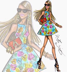 Hayden Williams Fashion Illustrations: Editor-at-large for Vogue Japan Anna Dello Russo by Hayden Williams