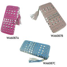 16ac4ad78742 2017 Alibaba China Fashion PU Leather Ladies Purses Women Designer Rivet  Wallet