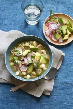 "<p>Warm up with a bowl of hearty Mexican chicken soup.</p><p><a rel=""nofollow"" href=""http://www.womansday.com/food-recipes/food-drinks/recipes/a56484/pork-pozole-verde-recipe/""><strong>Get the recipe.</strong></a></p>"