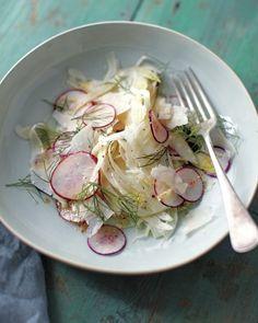 shaved radish . fennel . parmesan salad / Whole Living