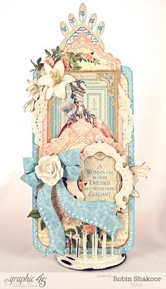 A Gilded Lily tag by Robin. Beauty! #graphic45