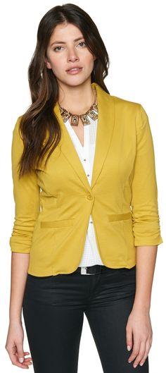 femininer Jersey-Blazer für Frauen (unifarben, 3/4-Arm mit Reverskragen) - TOM TAILOR