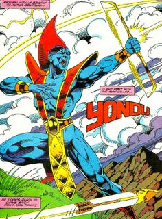 Yondu of the Guardians of the Galaxy Marvel Comic Character, Marvel Characters, Comic Book Artists, Comic Book Heroes, Yondu Marvel, Yondu Udonta, Gaurdians Of The Galaxy, Drax The Destroyer, Comics Universe