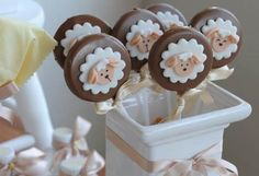 Eid Party, Baby Party, Baby Shower Souvenirs, Christmas Cake Pops, Chocolate Lollipops, Oreo Pops, Baby Boy Birthday, Happy Eid, Easter Cookies