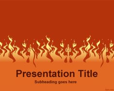 Download free Fire PowerPoint template is a free template for PowerPoint with fire effect on the slide design #powerpoint #templates